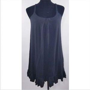 Victoria's Secret Ruffled Hem Black Dress Small